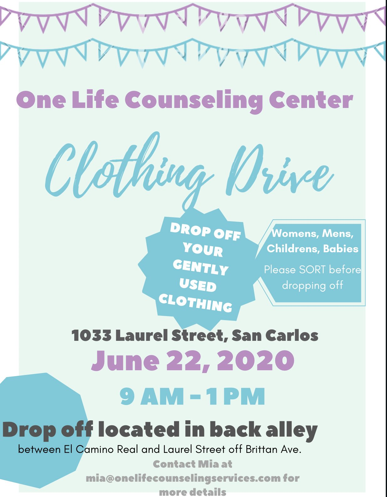 Donate Clothes in English Flyer