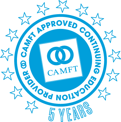 CAMFT Approved Provider 5 Years Logo